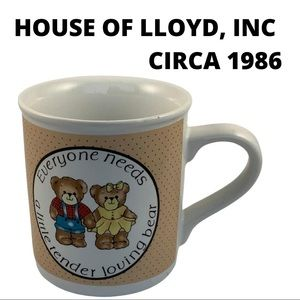 House of Lloyd, inc. Bear coffee mug 1986